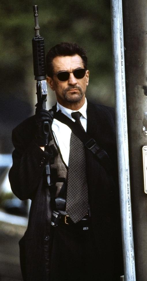 Heat Neil Mccauley S Charcoal Pinstripe Bank Robbery Suit Bamf Style