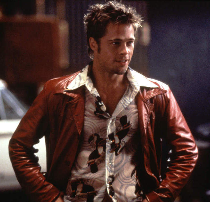 Tyler Durdens Rust Red Leather Jacket » BAMF Style