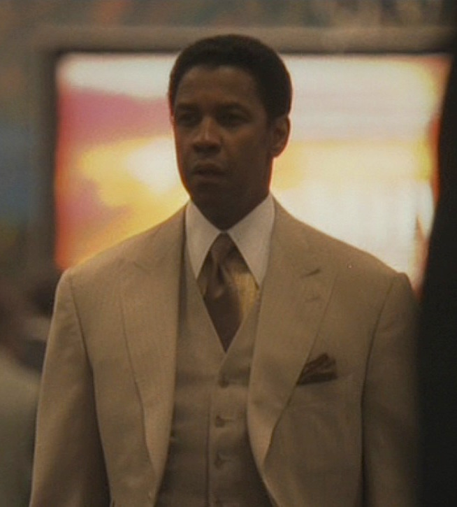 American Gangster Frank Lucas Striped Tan Suit Bamf Style