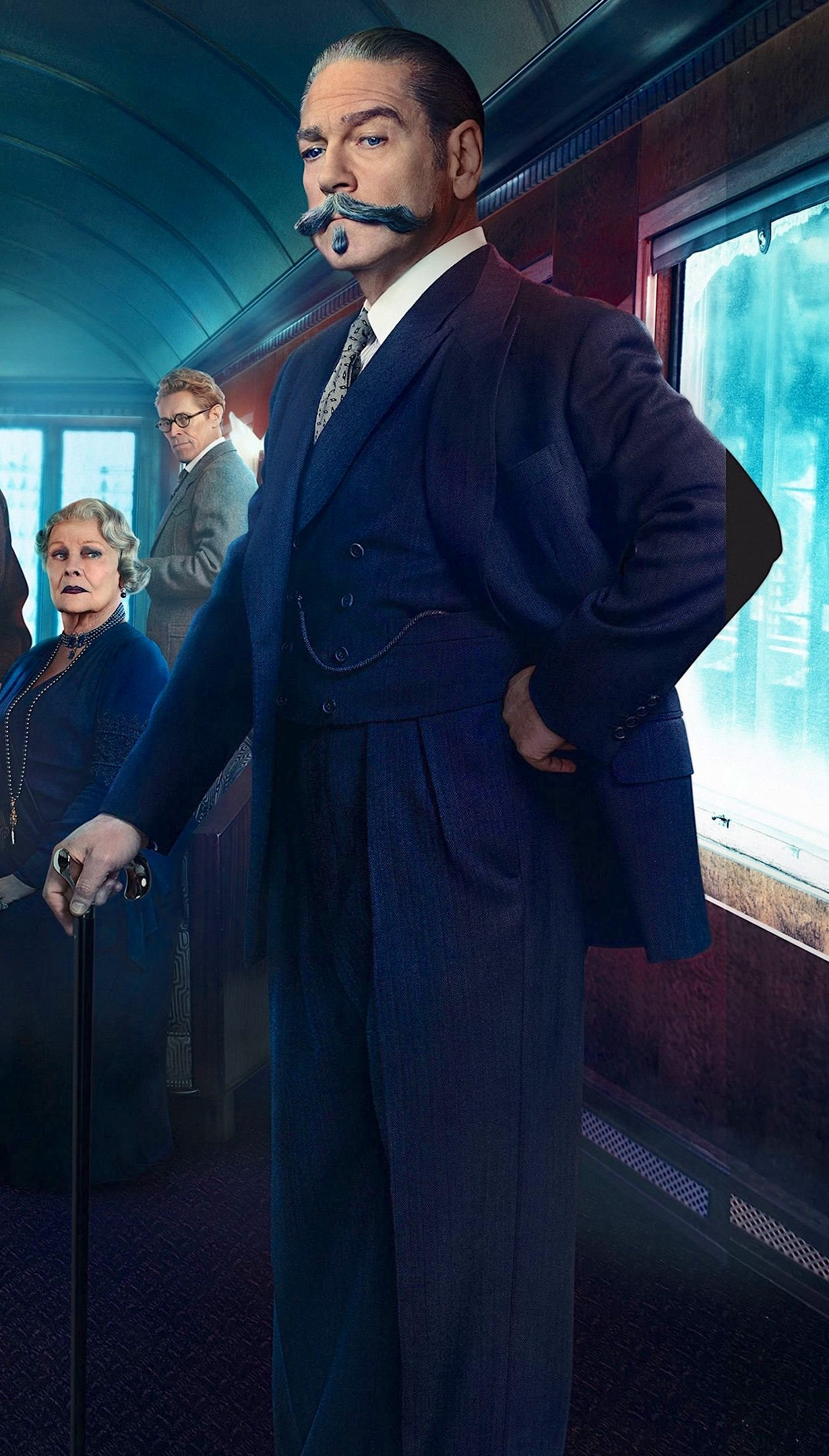 Murder On The Orient Express Kenneth Branagh S Navy Suit As Poirot Bamf Style